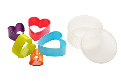 Premier Housewares - Moldes para galletas con forma de corazón
