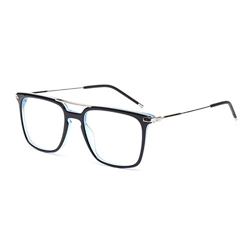 YMTP Acetat Männer Brillenfassungen Rezept Designer Myopie Optische Klar Brillengestelle, C3
