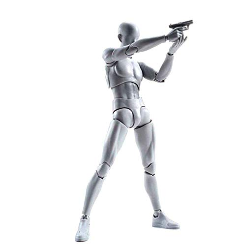 Modelo de figura de acción KEBY, muñeca de maniquí humano, set de figuras de acción para hombre y mujer con kit de accesorios, perfecto para dibujar, dibujar, pintar Male