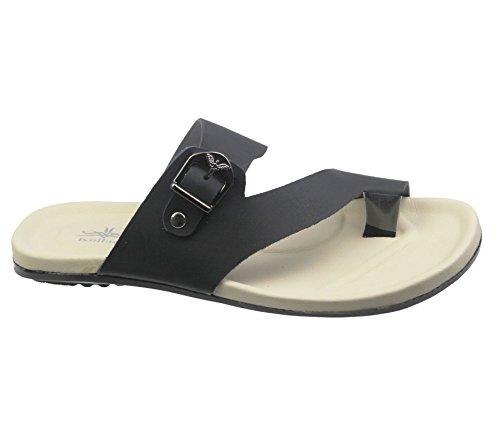 Herren flache Sandalen Casual-Slipper Flip-Flops Jungen Schlupfschuh Strand Zehenöffnung Spazierschuh moderne Lederschuhe Sandalen Größe Schwarz