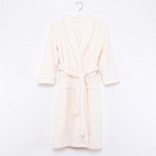 DMMSS Damen Flanell verl?ngerten Nachthemd dicker luxuri?se Badem?ntel Trainingsanzug Pyjamas 2