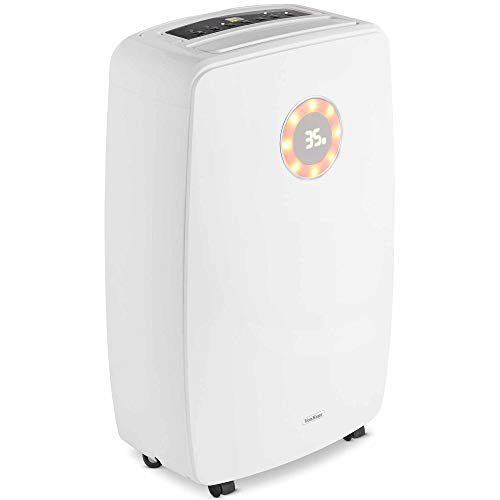 VonHaus 20L Dehumidifier - Portable Purification System - Air Treatment - Extracts Damp & Moisture - For Spaces Up To 35m² - Ideal For Garages, Offices, Workshops & Homes
