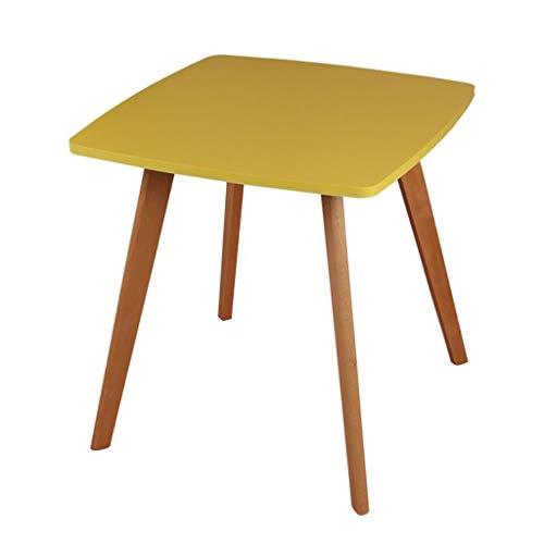 M-JH Table d'appoint, Table Basse carrée de Table d'appoint de Salon appropriée à la Table d'appoint de canapé en Bois Massif de Petit Espace (Couleur : Le Jaune)