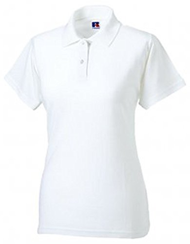 Russell donna in cotone-piquet Polo a maniche corte Bianco