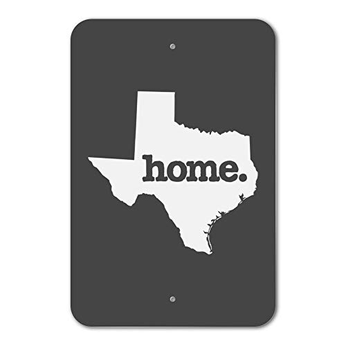 Dark-metal-finish (Co5675do Metal Sign 6x9 Inches Poster Plaque Funny Sign Texas TX Home State Solid Dark Gray Home Business Office Sign)
