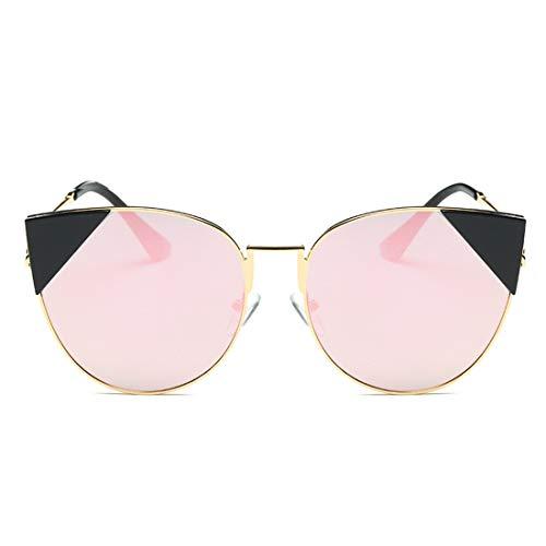 UICICI Unregelmäßige Sonnenbrillen für Frauen Metallrahmen umrandeten UV-Schutz Klassische übergroße modische Dame (Farbe : Golden Frame Local Gold) (Frames Locales And)