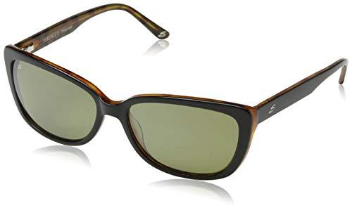 Serengeti Eyewear Damen Sonnenbrille Sophia, Shiny Black/Tortoise, M, 7890