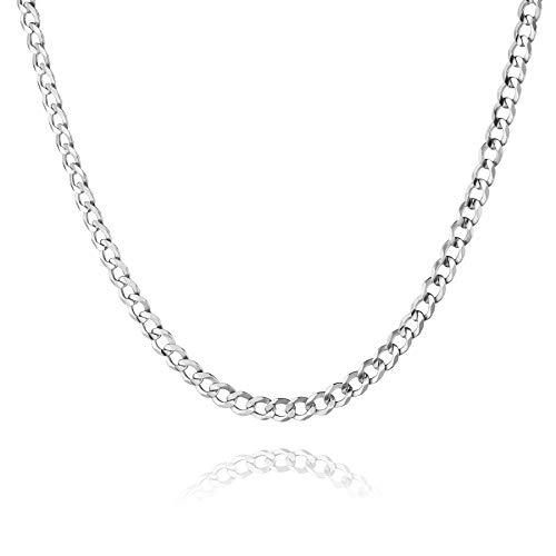 STERLL Herren Hals-Silberkette Sterling-Silber 925 60cm Ohne Anhänger Schmucketui Geschenke für Männer