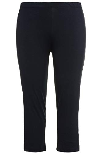 Ulla Popken Große Größen Damen 7/8 Hose Caprihose 59372471, Gr. 50 (Herstellergröße: 50+), Blau (marine 71) - Plus Size Capri-leggings