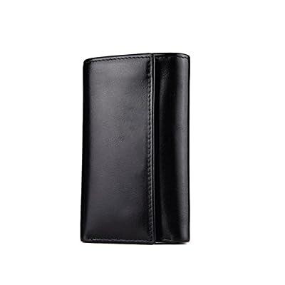 ZLR Porte-clés Porte-monnaie pour hommes Porte-clés en cuir à grande capacité
