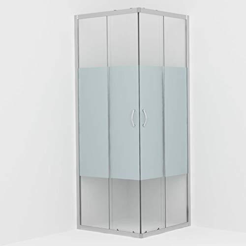 vidaXL Cabine de Douche Rectangulaire avec Porte Coulissante Salle d'Eau Salle de Bain Intérieur Maison Verre de Sécurité 70x70x185 cm