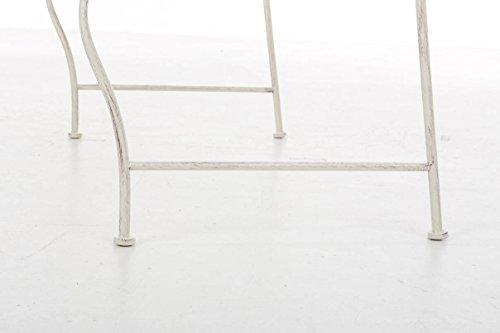 CLP Metall Gartenbank TUAN, 2-er Sitz-Bank Garten, Eisen lackiert, Design nostalgisch antik, 105 x 50 cm Antik Creme - 8