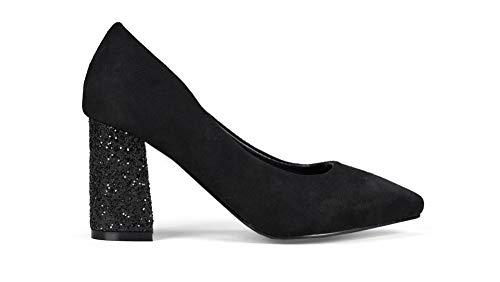 Bosanova Zapato Estilo Salón Tacón Alto 7 Cm con Piedras Brillantes y Punta  Fina para Mujer fcee8f8fe7c1