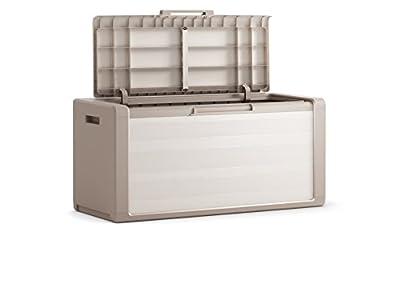 """Auflagenbox """"Sunny"""" - aus Kunststoff - Maße (LxBxH): ca. 118 x 49 x 55 cm - mit Absenkautomatik von Oxid7 bei Du und dein Garten"""