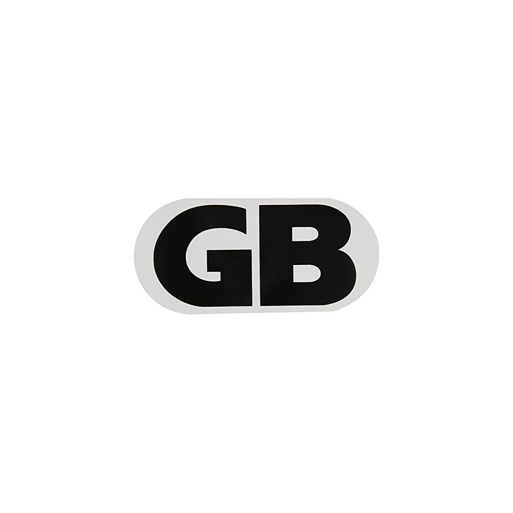 XtremeAuto/® Magnetic White And Black GB Great Britain Oval Badge Plate 130 x 63mm