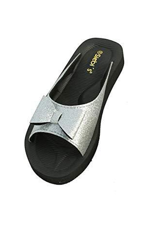 Siebi's Beach Glitter Badeschuhe Pantoletten Damen: Größe: 41 EU | Farbe: Silber