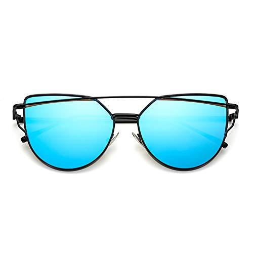 DWSYDA Cat Eye Sonnenbrille Frauen Double Beam Brille,1