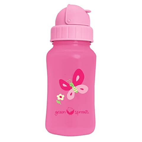 green sprouts Straw Bottle (Pink)
