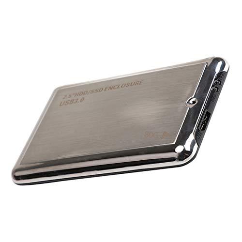 non-brand Baoblaze Externe Festplatte tragbare 80 GB 2,5 Zoll USB 3.0 Backups HDD Tragbare für TV, PC, Laptop, Desktop, Alulegierung -