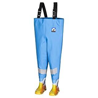 Kinderwathose AWN hellblau Gr. 32/33 mit breiten Reflexstreifen &Angel-Wolff-Logo