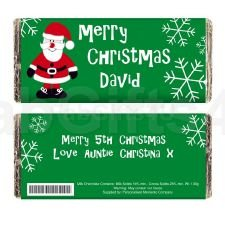 Pmc - Personalised Chocolate Bars Personalised Father Christmas Chocolate Bar