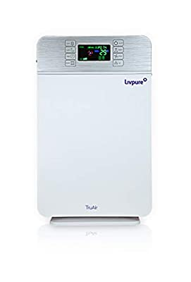 Livpure TruAir 50-Watt Air Purifier with Composite Filter and Remote (White)