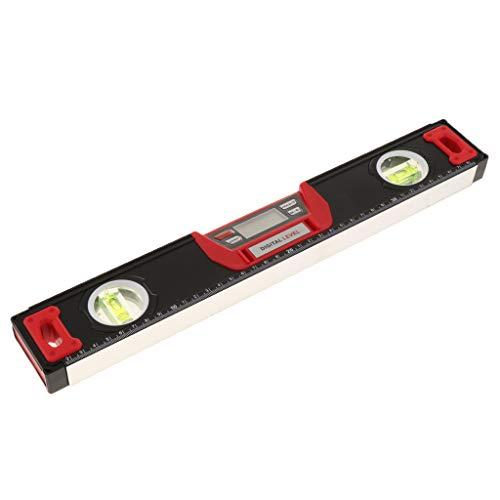 SM SunniMix Digital Wasserwaage Neigungsmesser Winkelmesser Messwerkzeug für Anfänger und Profi, aus Metall