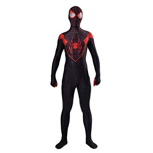 Ghuajie5hao Männer Ultimative Spiderman Cosplay Kostüm Trikot Frauen Maskerade Halloween Trikot Einteilige Kleidung Filmrequisiten Kleidung Spider-Man Phantasie Set,Schwarz,L