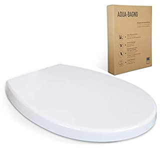 Aqua Bagna Smile Universal Made of Duroplast Toilet Seat with Soft Close and Removable
