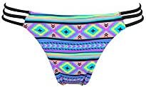 Mi Mini Itsy bikini étnico - Traje de baño tanga con ligas multicolores (Braga)