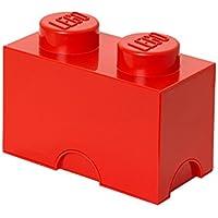 Room Copenhagen Mattoncino-contenitore Lego a 2 Bottoncini, Contenitore Impilabile, 2,6 Litri, Rosso