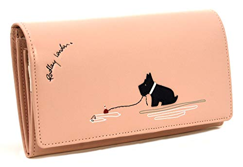 RADLEY Large Flapover Matinee Geldbörse 'Fenchurch Dog Fishing' aus Hellrosa Leder - Matinee-geldbörse