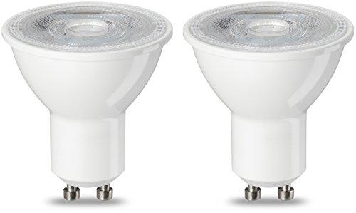 AmazonBasics GU10 LED Lampe, Spot, 4.7W (ersetzt 50W), warmweiß, 2er-Pack - Gu10 Spot Birne