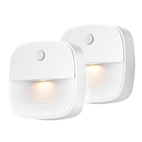 Veilleuse Murale LED Capteur de Mouvement PIR Lampe de Nuit Lumière 3000K Blanc Chaud pour Chambre d'Enfant / Toilette / Entrée / Escalier / Couloir / Passage [EECOO 2018 NEW]