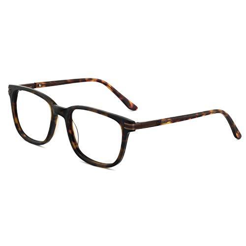 OCCI CHIARI Herren optische Brillen Nicht verschreibungspflichtige Fashion Brillen Brillen Rahmen mit klaren linsen 52-18-138 a-braun + schildkröte