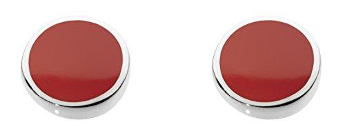 Dew 3060ra orecchini a perno in argento sterling e con pietra di agata rossa sferica