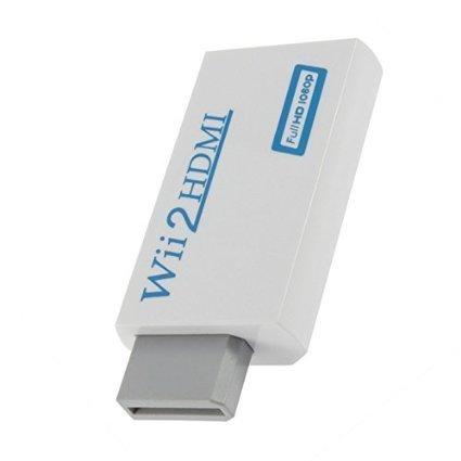 Mondpalast ® Wii à Upscaling HDMI 720P HD 1080p sortie adaptateur convertisseur à 3.5mm audio