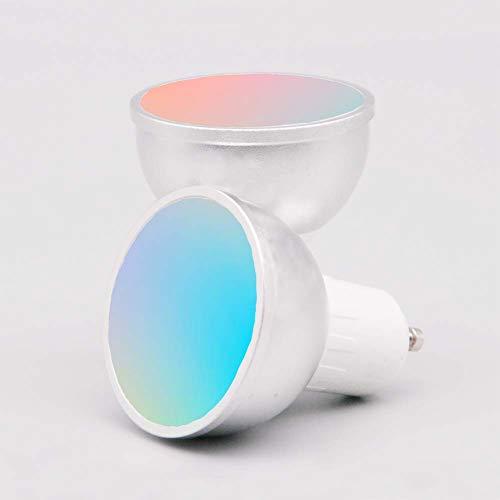 Lampadina GU10 WiFi Smart LED, APP e Controllo Vocale, con Controllo di Gruppo Family Sharing, Bulbo GU10 a Colori Regolabile RGB 5W, Compatibile con Amazon Alexa / Assistente Google(GU10 2 pezzi)