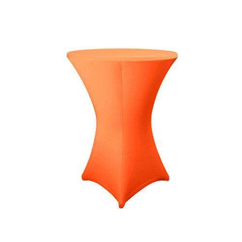 Expand Stehtischhusse Orange - Überzug, Husse, Stretchhusse für Stehtische, Bistrotische - Ø 80cm-86cm - Stretch