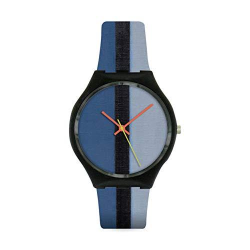 MOMA Artist Watch I, Red, Blue, Black, Yellow, and Gray, Armbanduhr Frauen (Uhren Oro Männer)