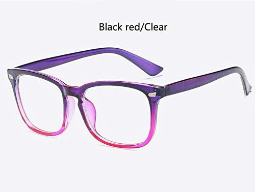 Sonnenbrille Lila Brillengestell Square Brillengestell Klare Linse Nerd Schwarz Klar Schwarz Sonnenbrille Zwei Ton Niet Brillen Frauen