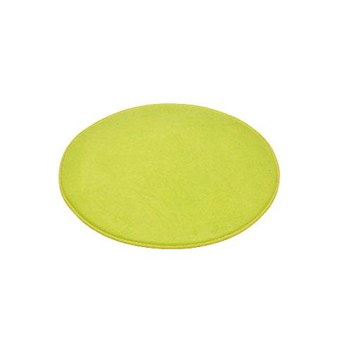 Douceur d'Interieur 6GMB270VC Vitamine Tapis de Salle de Bain Rond Polyester Vert Anis 60 x 60 x 1 cm