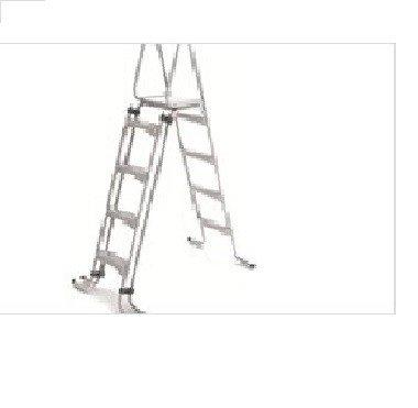 Cpa–Escalera Piscina acero galvanizado H. 1,30m–4Peldaños
