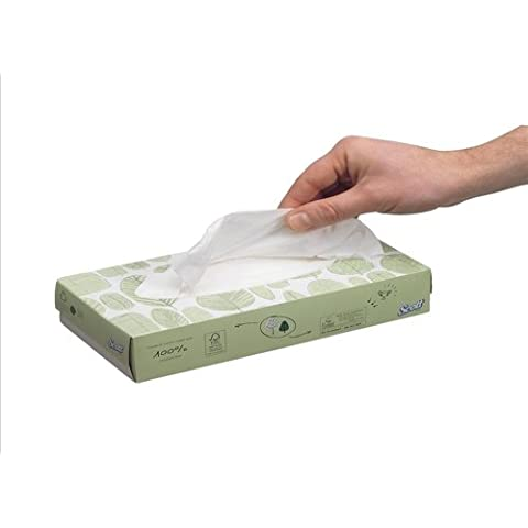 Scott Tejido Facial cajas de dispensador de–blanco estándar–21x 100hojas + libre Reino Unido