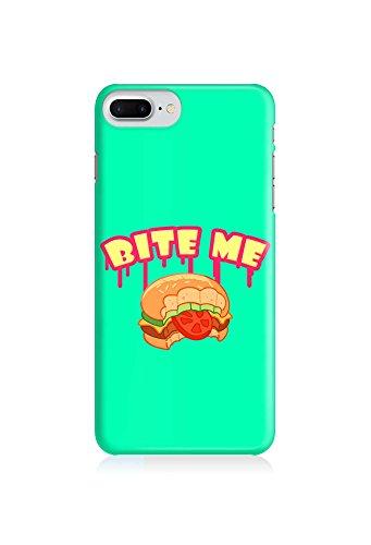 COVER Statement Spruch Quote bite me Burger fast food Essen Design Handy Hülle Case 3D-Druck Top-Qualität kratzfest Apple iPhone 8 Plus