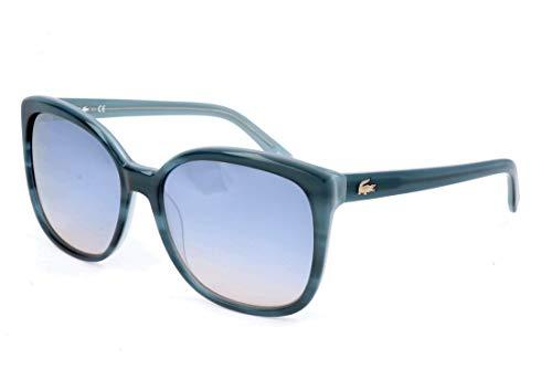 Lacoste Damen L747S 466 57 Sonnenbrille, Striped Petrol,