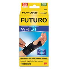4COU ** Energizing Wrist Support, Small/Medium, Fits Right Wrists 5 1/2 - 6 3/4, Black **