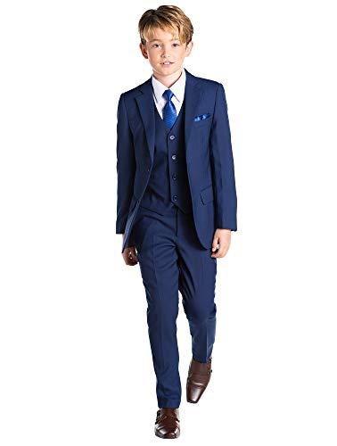 Paisley of London, Anzug für Jungen, Kombination für Schulball, Dreiteiler, 12-18Monate-13Jahre, Blau Gr. 8 Jahre, blau (Anzug Jacke 8 Jungen-größe)