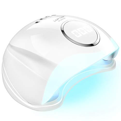 lofter lampada led unghie uv professionale 48w fornetto unghie semipermanente nail lamp forno unghie asciuga smalto con sensore automatico, 4 timer preimpostati 10s/30s/60s/99s e guanti anti-uv