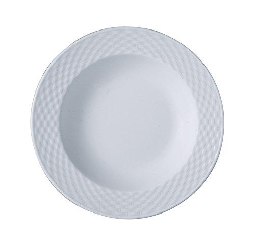 The Kitchenette - lot de 4 assiette creuse 23cm en porcelaine blanche polo